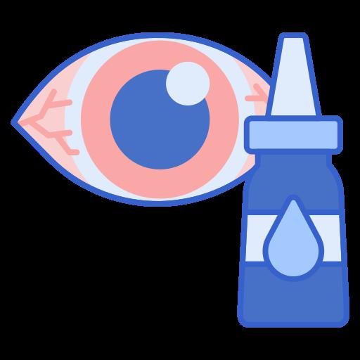 Künstliche Augentränen helfen gegen trockene Augen.